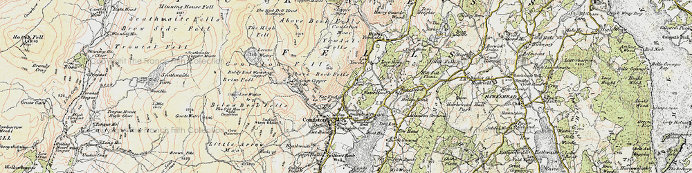 Old map of Levers Water in 1903-1904