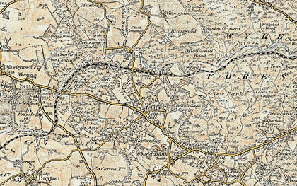 Old map of Lem Brook in 1901-1902