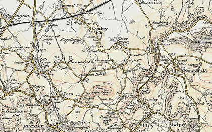 Old map of Ashmead Ho in 1898-1900