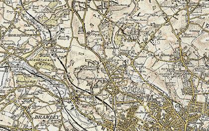 Old map of Far Headingley in 1903-1904