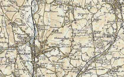 Old map of Whitemoor Hall in 1902