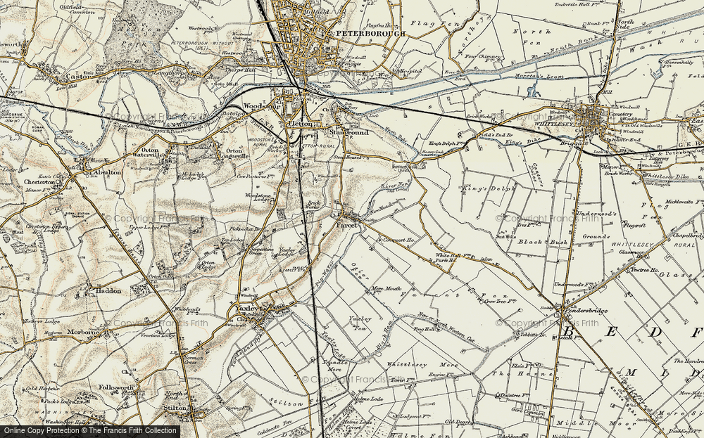 Old Map of Farcet, 1901-1902 in 1901-1902