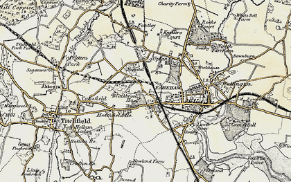 Old map of Fareham in 1897-1899