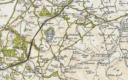 Old map of Whinney Fell in 1901-1904