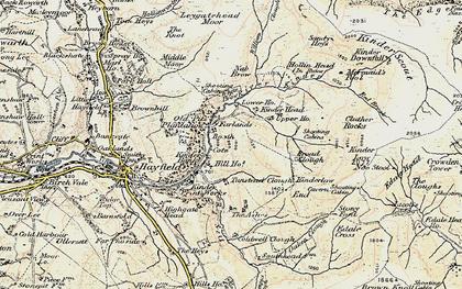 Old map of William Clough in 1903
