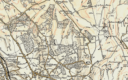 Old map of Farleigh in 1897-1902