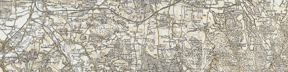 Old map of Farley Green in 1897-1909