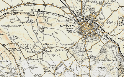 Old map of Farley Hill in 1898-1899