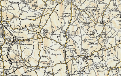 Old map of Farms Common in 1900