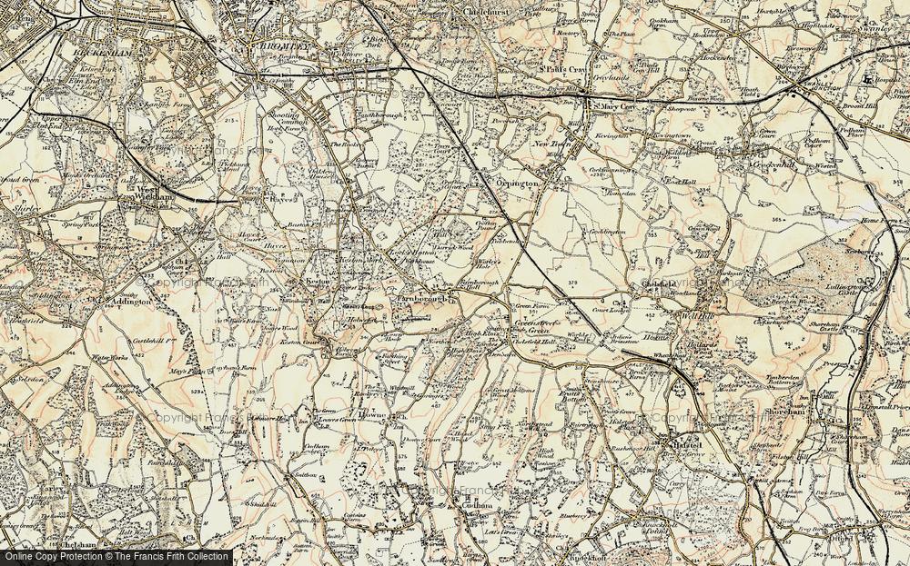 Old Map of Farnborough, 1897-1902 in 1897-1902