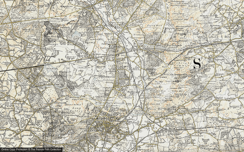 Old Map of Farnborough, 1897-1909 in 1897-1909