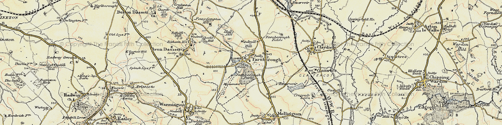 Old map of Windmill Hill in 1898-1901