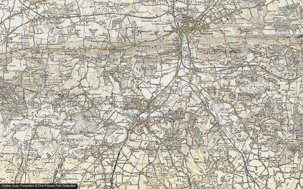 Old Map of Farncombe, 1897-1909 in 1897-1909