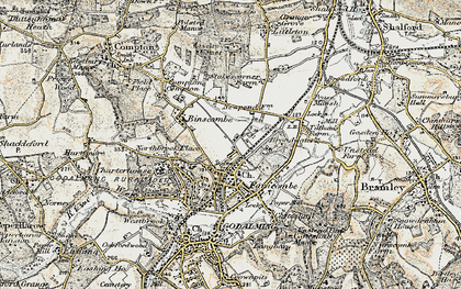 Old map of Farncombe in 1897-1909