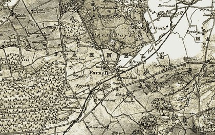 Old map of Whanland in 1907-1908