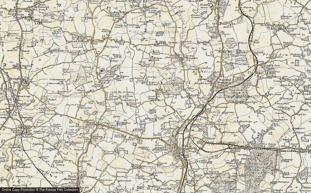 Old Map of Farnham, 1898-1899 in 1898-1899