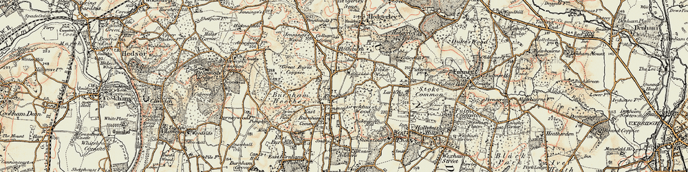 Old map of Farnham Common in 1897-1909