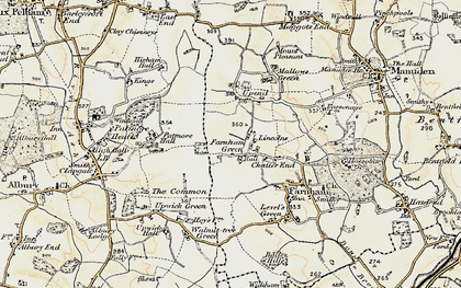 Old map of Lincolns in 1898-1899
