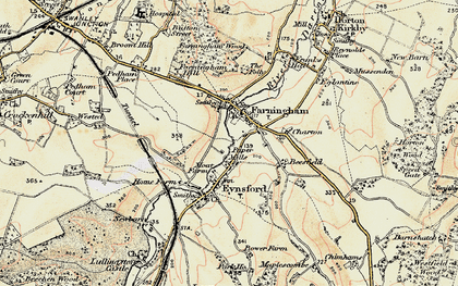 Old map of Farningham in 1897-1898