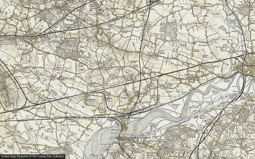 Old Map of Farnworth, 1903 in 1903