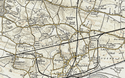 Old map of Farnworth in 1903