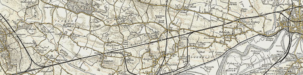 Old map of Widnes Sta in 1903