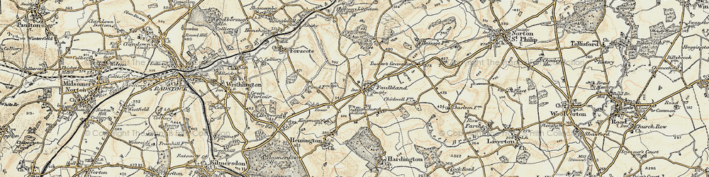 Old map of Faulkland in 1898-1899