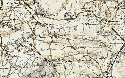 Old map of Ashford Grange in 1902
