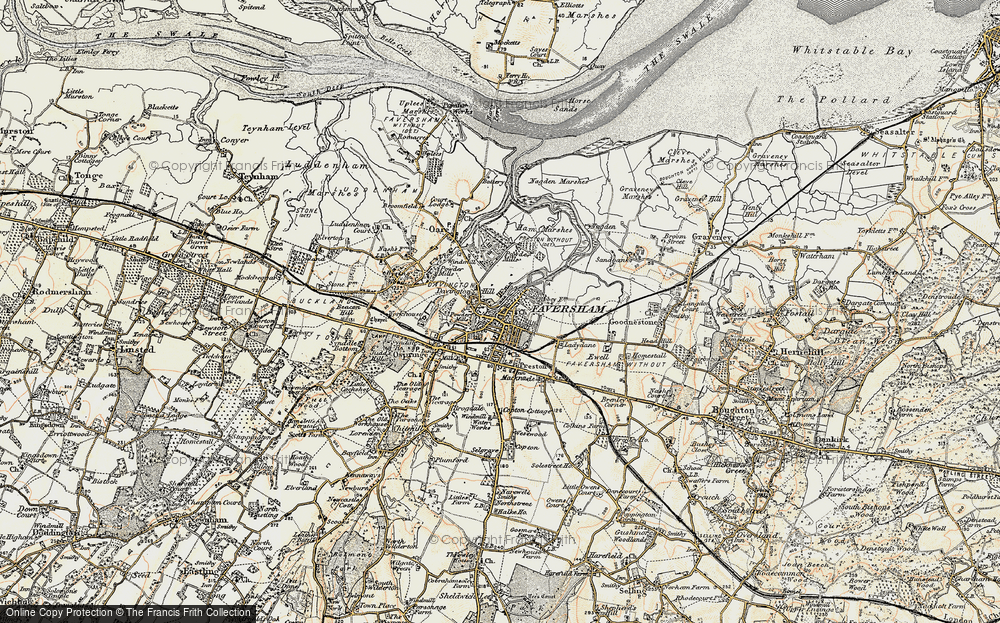 Old Map of Faversham, 1897-1898 in 1897-1898