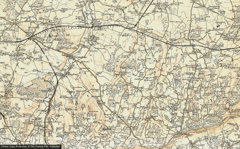 Old Map of Fawkham Green, 1897-1898 in 1897-1898