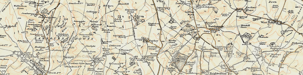 Old map of Woolley Down in 1897-1900