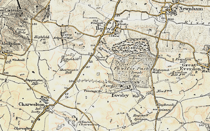 Old map of Badby Down in 1898-1901