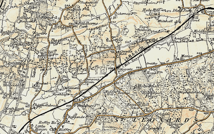 Old map of Faygate in 1898-1909