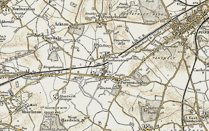 Old map of Featherstone in 1903