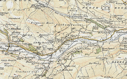 Old map of Feetham in 1903-1904