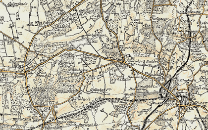 Old map of Felbridge in 1898-1902
