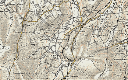Old map of Aberhyddnant in 1900-1901