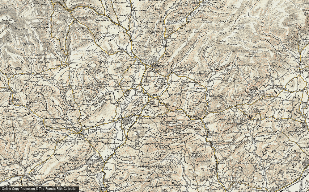 Old Map of Historic Map covering Ynysau-isaf in 1900-1902