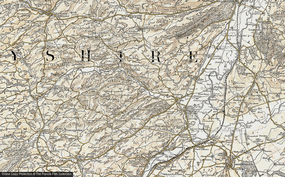 Old Map of Historic Map covering Wyle Cop in 1902-1903