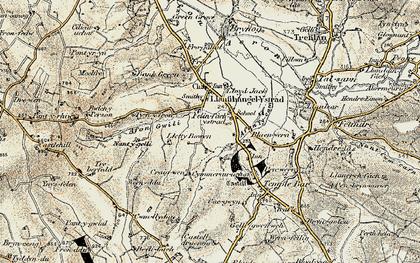 Old map of Felinfach in 1901-1903