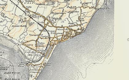 Old map of Felixstowe in 1898-1901