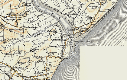 Old map of Woodbridge Haven in 1898-1901