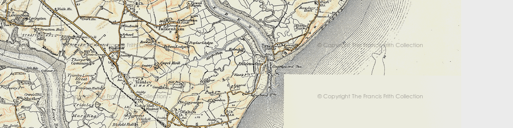 Old map of Woodbridge Haven in 1898-1901