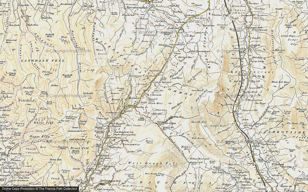 Old Map of Historic Map covering Backside Beck in 1903-1904