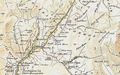 Old map of Adamthwaite in 1903-1904