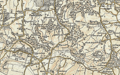 Old map of Whitford in 1898-1900