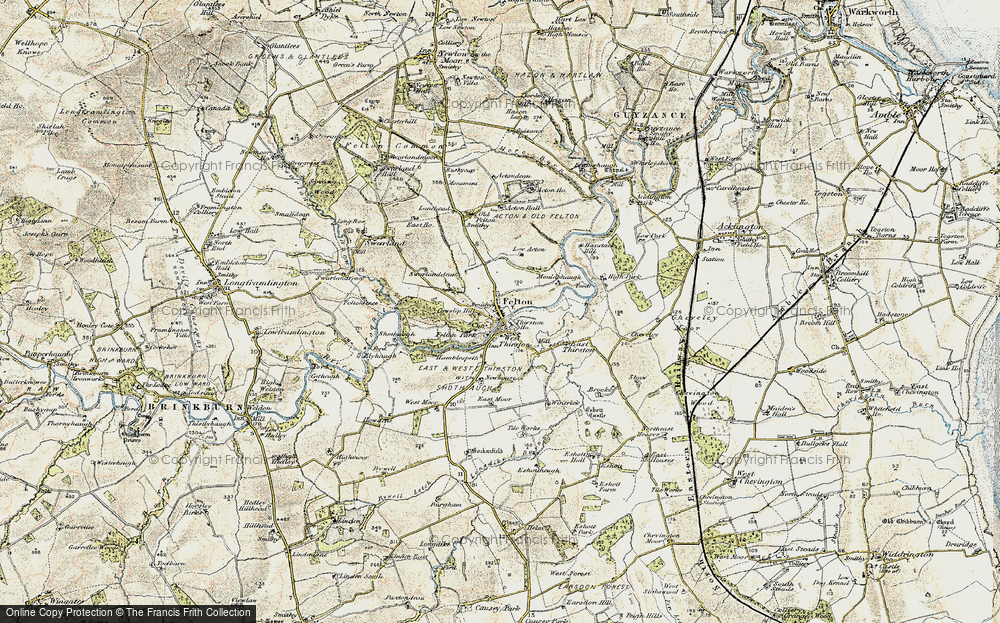 Old Map of Historic Map covering Acton in 1901-1903