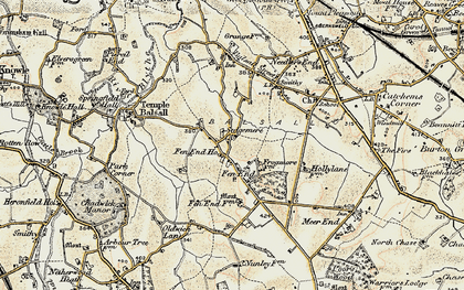 Old map of Balsall Lodge in 1901-1902
