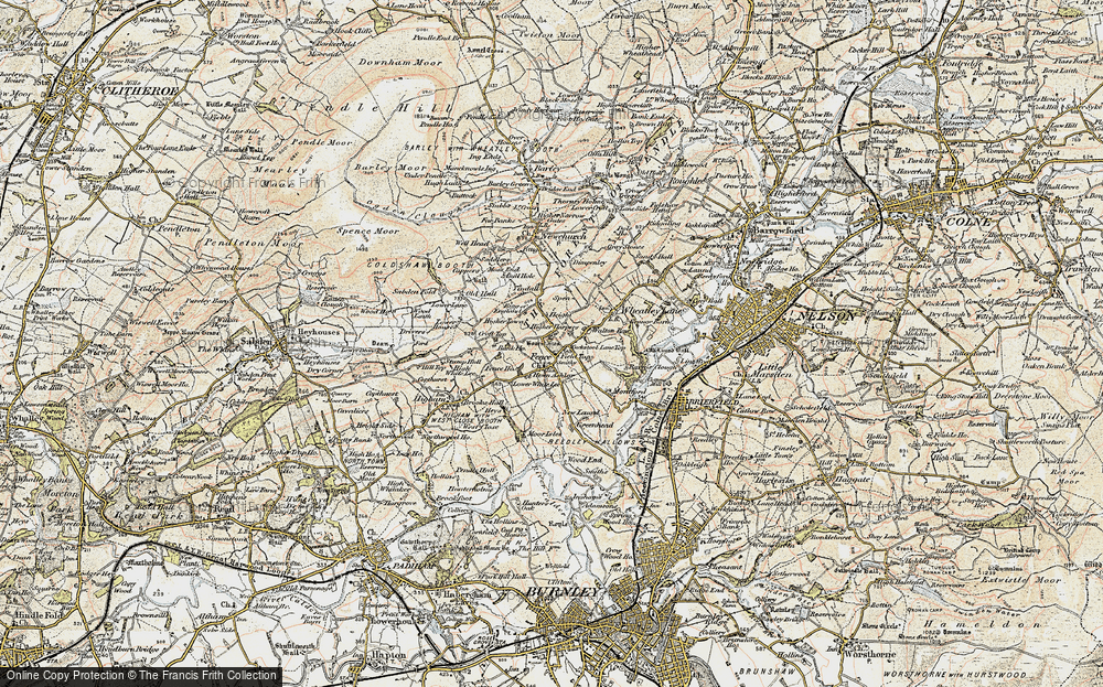 Old Map of Historic Map covering Green Head in 1903-1904