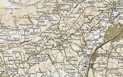 Old map of Ashlar Ho in 1903-1904